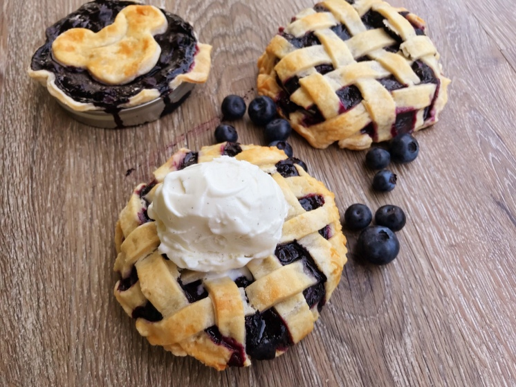 Gideon Gray would have been proud of our Mason Jar Lid Blueberry Pie!