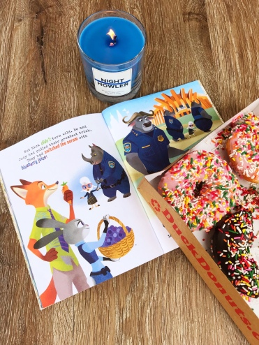 Rainy afternoons call for a good book and donuts