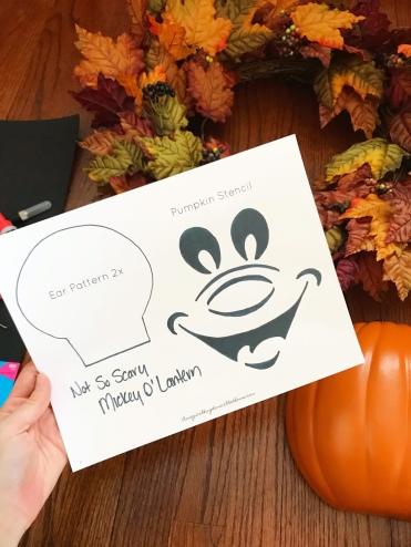 Mickey Mouse Pumpkin Stencil - A Magical Kingdom called Home