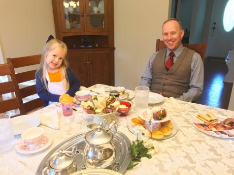 Guests at our Tea Party - Mary Poppins Movie Night