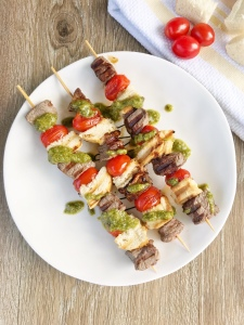 Pesto Steak Kabobs - Lion King Movie Night inspired meal