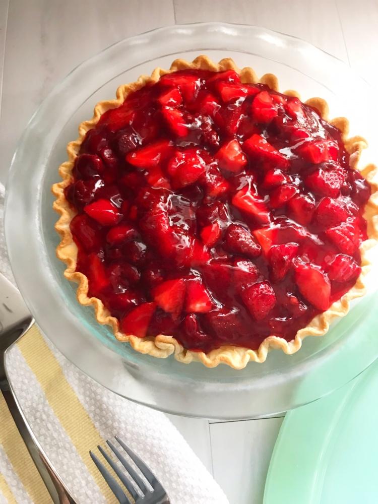 Strawberry Black Bottom Pie - A Magical Kingdom called Home