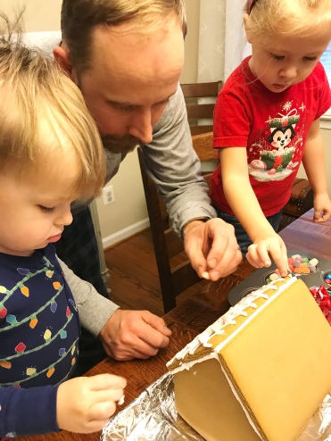 Making a Gingerbread house - Candy Kart Decorating Contest - Wreck-It Ralph Movie Night