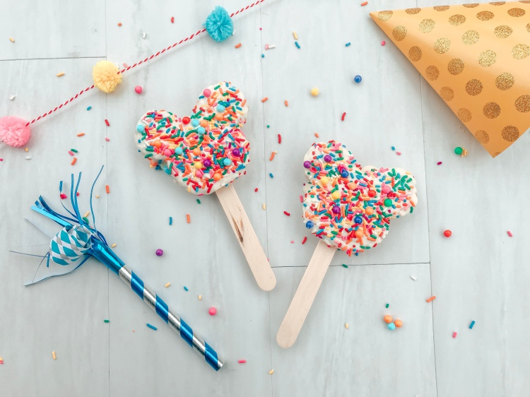 Celebration Mickey Rice Krispie Treat - Homemade Mickey shaped treat - Celebrating Mickey Movie Night - A Magical Kingdom called Home