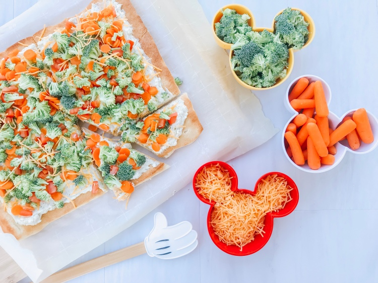 Cold Veggie Pizza - Inside Out Movie Night - A Magical Kingdom called Home