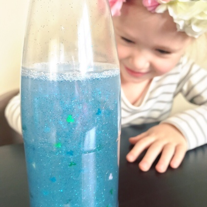 Calming Bottle craft - Inside Out Movie Night - A Magical Kingdom called Home