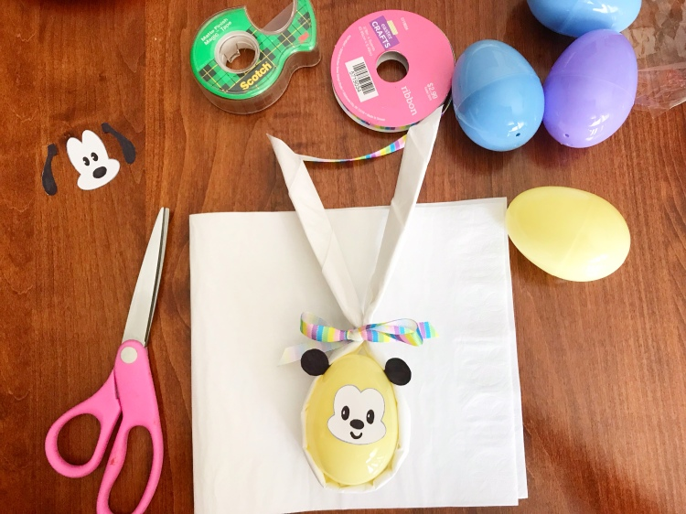 Mickey Mouse Easter Bunny Napkin Fold - A Magical Kingdom called Home - Disney Easter