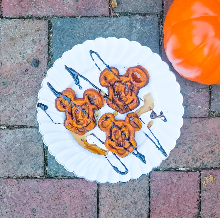 Mickey Pumpkin Waffles - A Magical Kingdom called Home